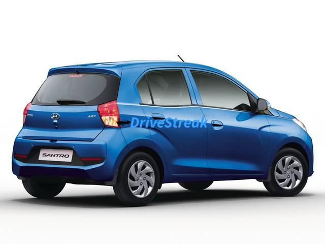 New Hyundai Santro rear three quarter