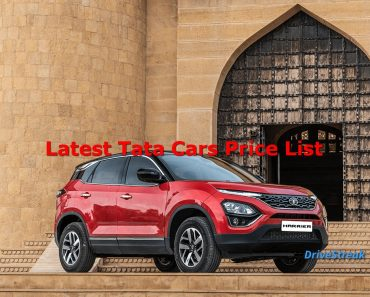 tata cars price list