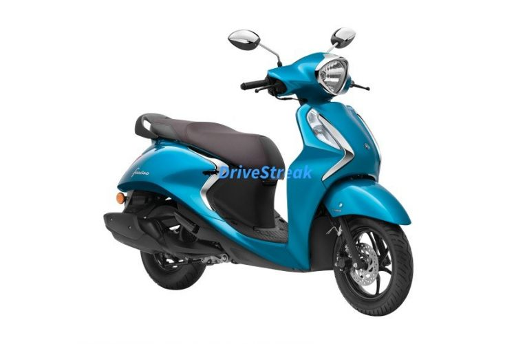 Yamaha Fascino cyan blue colour