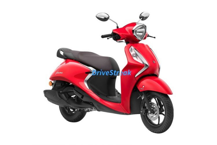 Yamaha fascino vivid red colour