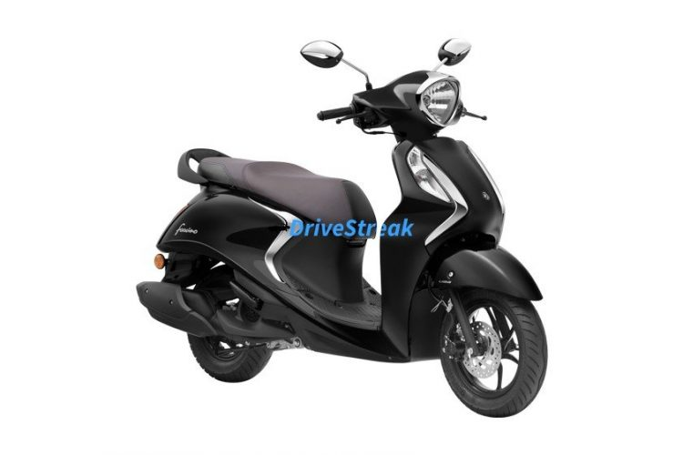 yamaha fascino metallic black colour