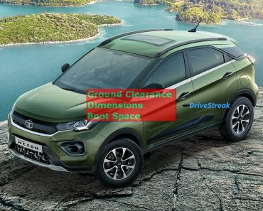 Tata Nexon ground clearance dimensions boot space